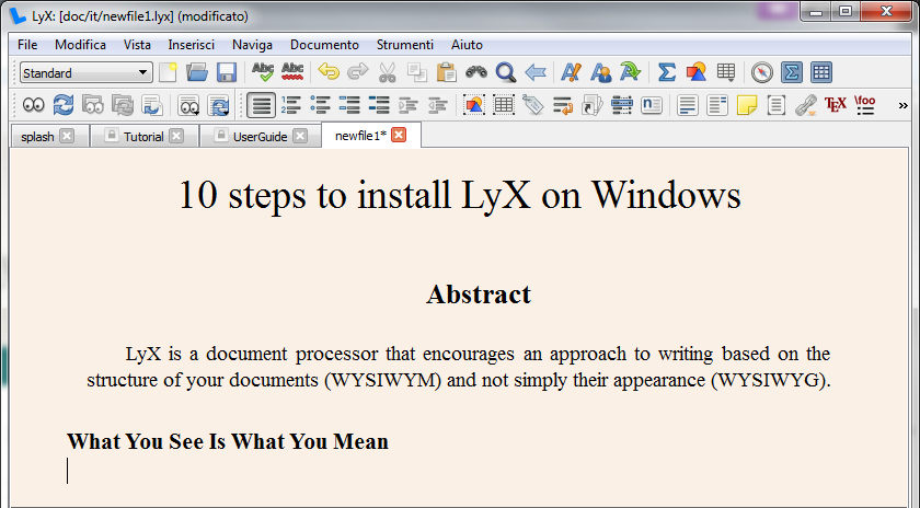 lyx windows 7