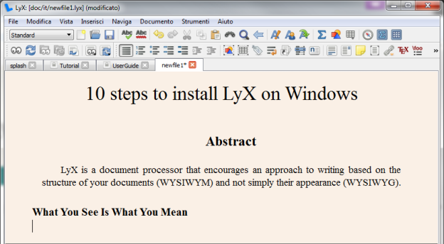 miktex templates - 10 steps to install lyx on windows chirale