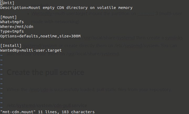 Mount via systemd of a directory on RAM